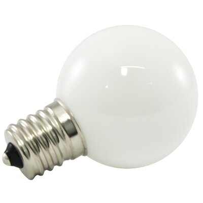 Frosted E26/Medium LED Light Bulb Bulb Temperature: 5500K, Wattage: 1W