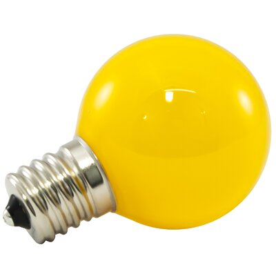 1W Yellow Frosted E17/intermediate LED Light Bulb Wattage: 1