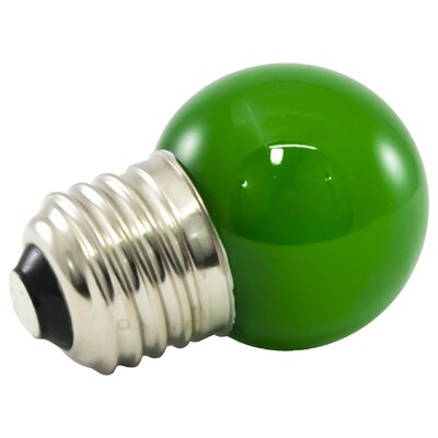 Green Frosted 120-Volt LED Light Bulb Wattage: 1.2