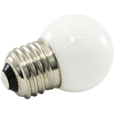 Frosted E26/Medium LED Light Bulb Bulb Temperature: 5500K, Wattage: 1.2W