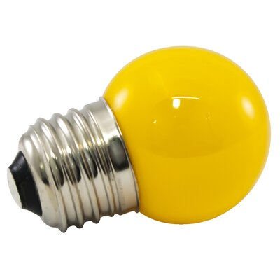 Yellow Frosted 120-Volt LED Light Bulb Wattage: 1.2