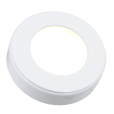 Omni LED Under Cabinet Puck Light Kit Finish: White