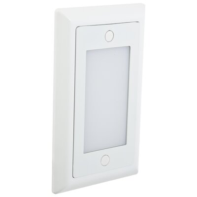 Smooth LED Step Light Faceplate (Set of 3) Finish: White