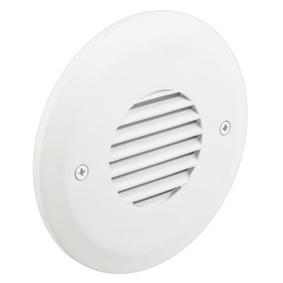 Outer Circle Louvered Faceplate Finish: White