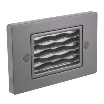 Horizontal Wave Step Light Faceplate Finish: Dark Bronze
