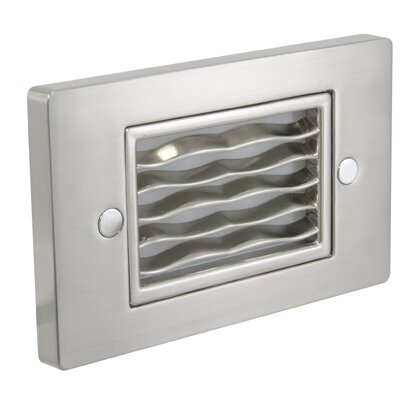 Horizontal Wave Step Light Faceplate Finish: Stainless Steel