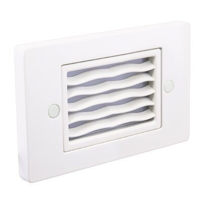 Horizontal Wave Step Light Faceplate Finish: White