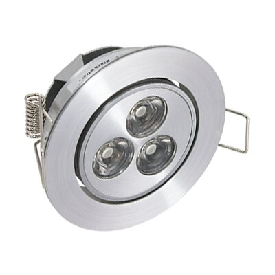 LED Under Cabinet Recessed Light Bulb: LED Mini Swivel, Finish: Satin Aluminum