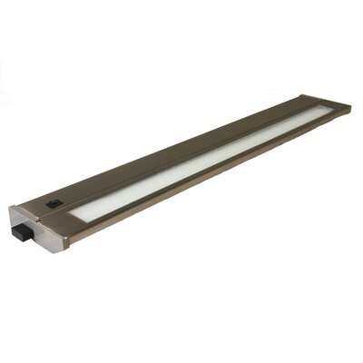 Priori Fluorescent Under Cabinet Bar Light (Set of 2) Size: 22, Finish: Brushed Steel, Wattage: 13W