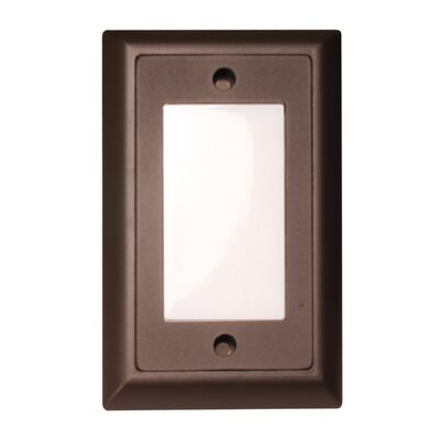 Smooth LED Step Light Faceplate (Set of 3) Finish: Dark Bronze