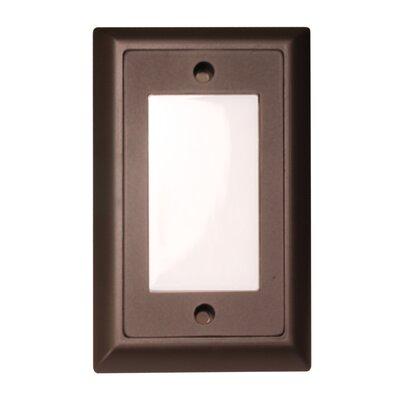 Smooth LED Step Light Faceplate (Set of 3) Finish: Dark Bronze