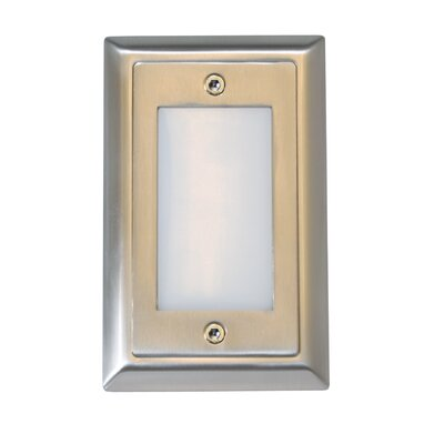 Smooth LED Step Light Faceplate (Set of 3) Finish: Stainless Steel