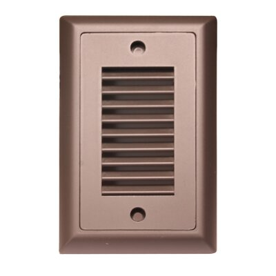 Indoor/Outdoor Vertical Louver LED Step Light Faceplate (Set of 3) Finish: Dark Bronze