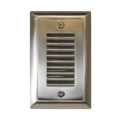 Indoor/Outdoor Vertical Louver LED Step Light Faceplate (Set of 3) Finish: Stainless Steel