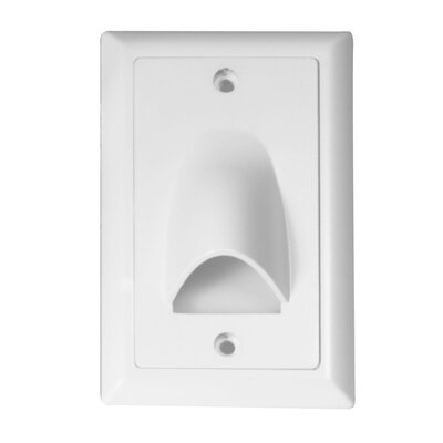 Vertical Scoop LED Face Plate (Set of 3) Finish: White
