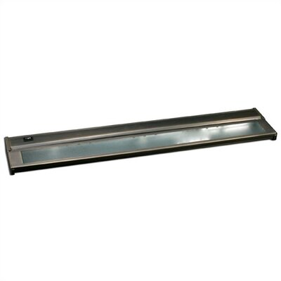 24 Under Cabinet Bar Light (Set of 2) Finish: Brushed Steel, Installation: Plug-in