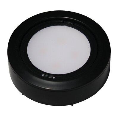 Puck 3 LED Recessed Trim Finish: Black