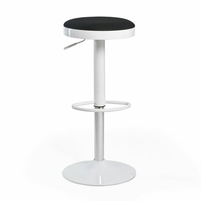 Fun, Colorful Carrie Adjustable Height Swivel Bar Stool Upholstery: Black