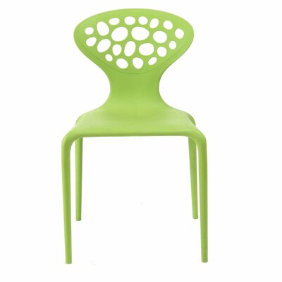 Contemporary Lucy Side Chair Color: Greeen