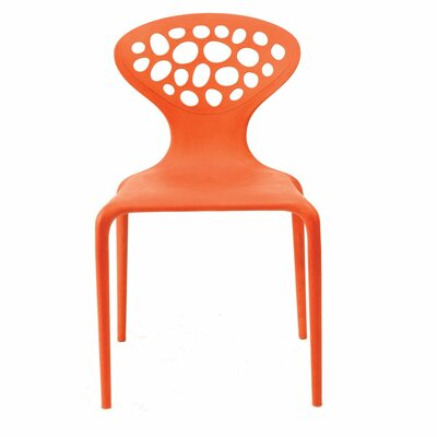 Contemporary Lucy Side Chair Color: Orange