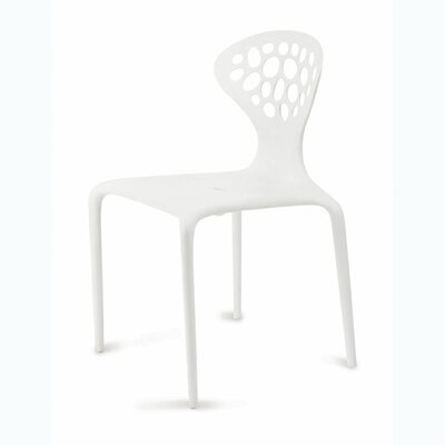 Contemporary Lucy Side Chair Color: White