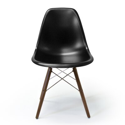 Krebs Solid Wood Dining Chair Finish: Black Matte
