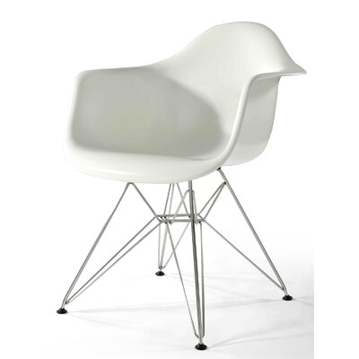 Sasha Arm Chair Upholstery Type: White Gloss