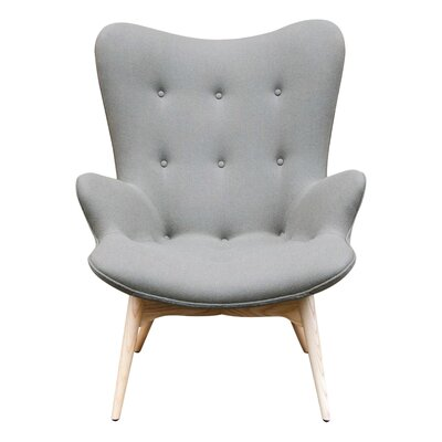 Jules Arm Chair Color: Grey