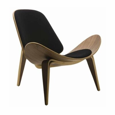 Chesapeake Leather Side Chair Upholstery: Leather - Black