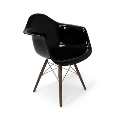 Marcella Arm Chair Color: Black Gloss