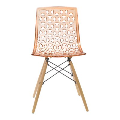Contemporary Sandra Side Chairs Finish: Orange
