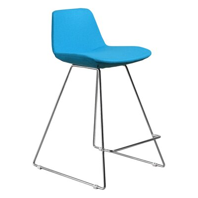 Fun, Colorful 23 Bar Stool Upholstery: Turquoise