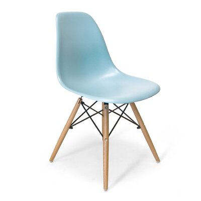 Brook Solid Wood Dining Chair Color: Blue
