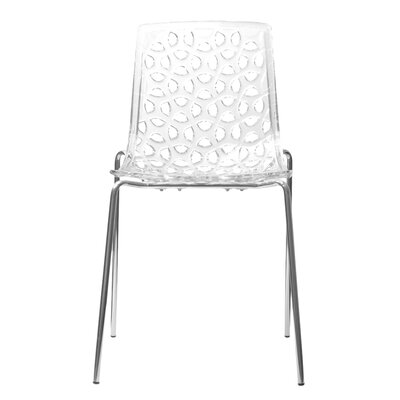 Contemporary Dakota Side Chairs Color: Clear