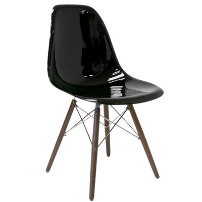 Krebs Solid Wood Dining Chair Finish: Black Gloss