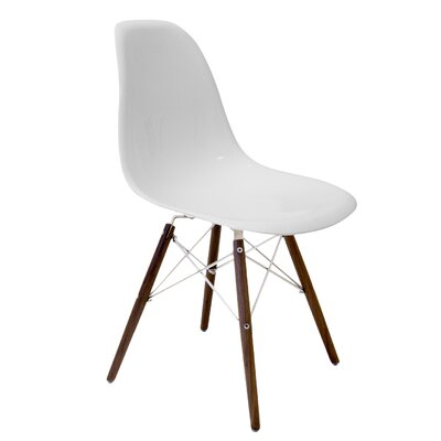 Krebs Solid Wood Dining Chair Finish: White Gloss