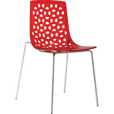 Contemporary Dakota Side Chairs Finish: Red