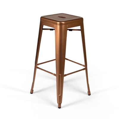 Louisa 30.5 Bar Stool Finish: Copper