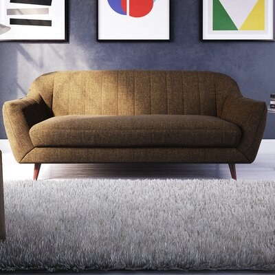 Daisy Sofa Color: Brown