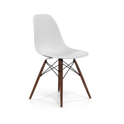 Brook Solid Wood Dining Chair Color: Walnut/White