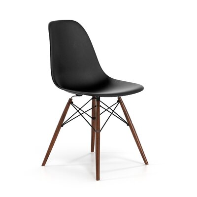 Brook Solid Wood Dining Chair Color: Walnut/Black