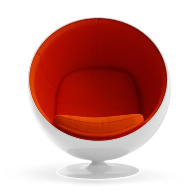 Ball Chair Upholstery: Orange
