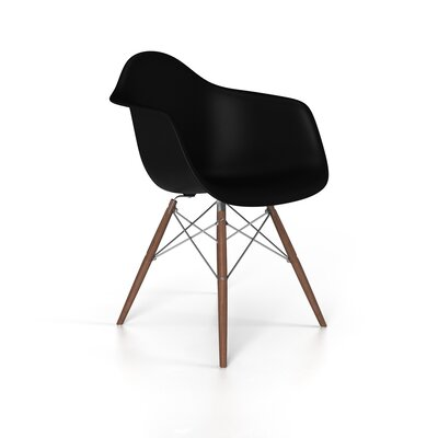Marcella Arm Chair Color: Black Matte