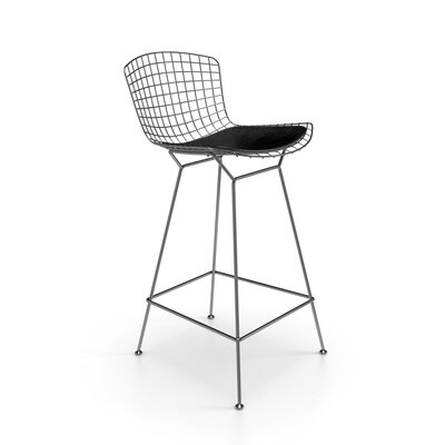 Ellie 26 inch Bar Stool Finish: Stainless Steel