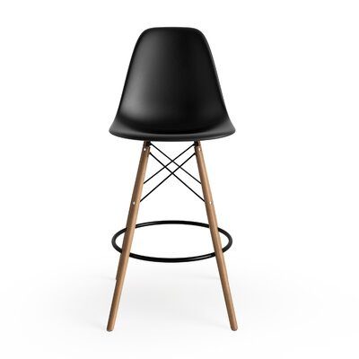 Alyssa 25.5 Bar Stool Finish: Black