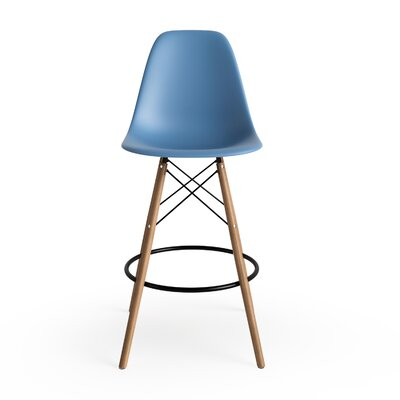 Alyssa 25.5 Bar Stool Finish: Blue