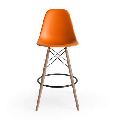Alyssa 25.5 Bar Stool Finish: Orange