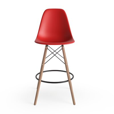 Alyssa 25.5 Bar Stool Finish: Red