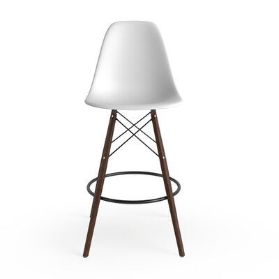 Alyssa 25.5 Bar Stool Finish: White/Walnut