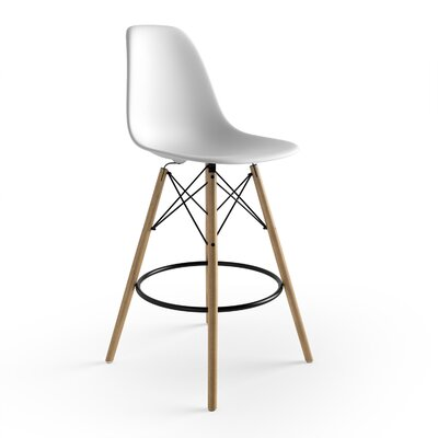 Alyssa 25.5 Bar Stool Finish: White